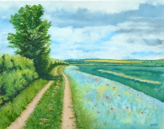 Norfolk Landscape Paintings, Ringstead Village Hall, High Street, Ringstead, Norfolk, PE36 5JU | An exhibition of paintings for sale festuring the Norfolk coast and countrysideby Barbara King.  | norfolk paintings coast country boats exhibition sale oil paint watercolour free cards parking